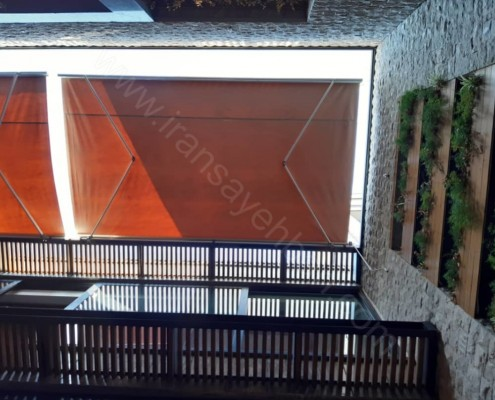 سایبان رستوران از نمای زیرین