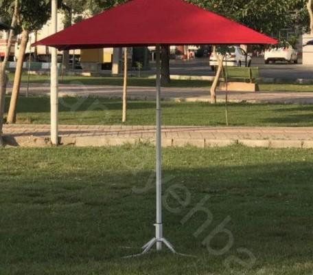 چتر پایه وسط مربعی