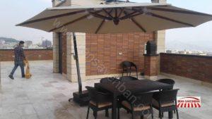 چتر پایه کنار هشت ضلعی