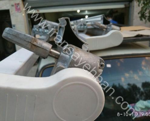 اسكلت سايبان برقي توليدي ايران سايبان-گيربكس دستي دنده درشت زاويه دار شده با دستگاه cnc